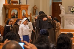 Sister Veronica is welcomed by her community