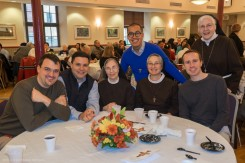 The OFM Postulants with Sisters Florence and Karen