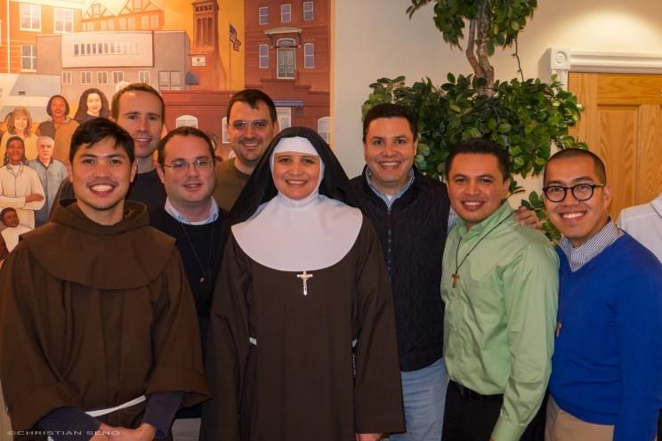 The OFM Postulants with Sr. Veronica, OSC Cap