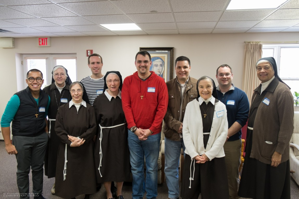The Postulants of Holy Name Province with some of the Sisters