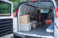 Loading up the van