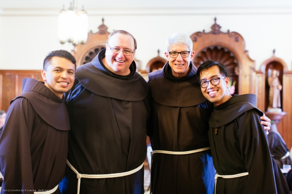 Br. Abel and me with Fr. Kevin and Fr. Ron