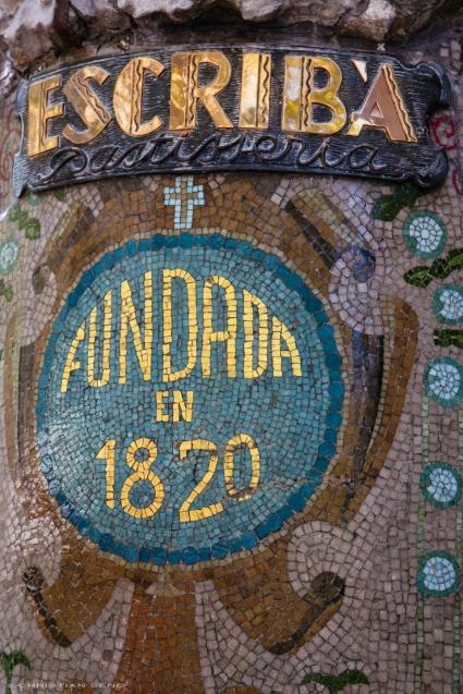 A mosaic in Las Ramblas