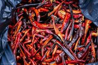 Peppers from St. Francis Farm after they are dried