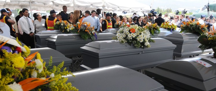 Funeral for the 72 migrants who were killed in San Fernando, Tamaulipas, Mexico. Photo from https://www.amnesty.org
