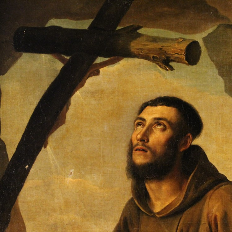 19th-century-italian-painting-oil-on-canvas-ecstasy-of-saint-francis
