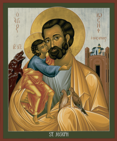 Saint Joseph, Icon by Br. Robert Lentz, OFM